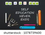 concept back to school  above... | Shutterstock . vector #1078739600