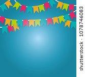 festival frame design | Shutterstock .eps vector #1078746083