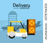 delivery service concept | Shutterstock .eps vector #1078746353