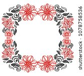 beautiful floral frame. vector... | Shutterstock .eps vector #1078758536