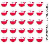 whale cartoons of juicy... | Shutterstock .eps vector #1078770368