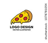 pizza doodle icon | Shutterstock .eps vector #1078781054