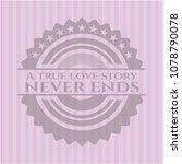 a true love story never ends... | Shutterstock .eps vector #1078790078