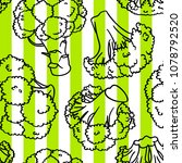 broccoli hand drawn vector... | Shutterstock .eps vector #1078792520