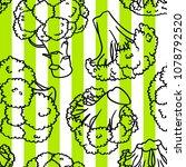 broccoli hand drawn vector... | Shutterstock .eps vector #1078792520