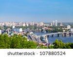 Kiev Cityscape And Dnieper...