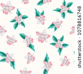seamless pattern with bright... | Shutterstock .eps vector #1078816748