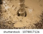 the process of drilling a water ...   Shutterstock . vector #1078817126
