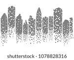 city skyline background vector... | Shutterstock .eps vector #1078828316