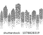 city skyline background vector... | Shutterstock .eps vector #1078828319