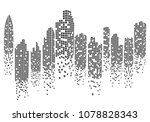 city skyline background vector... | Shutterstock .eps vector #1078828343