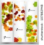 eps10  autumn banner   Shutterstock .eps vector #107882948