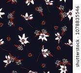 trendy white blossom  floral... | Shutterstock .eps vector #1078835546