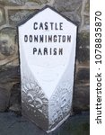 Small photo of Old cast iron waypoint marker in Castle Donington, East Midlands, UK