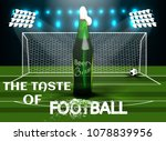 beer. realistic poster template.... | Shutterstock .eps vector #1078839956