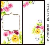 vintage delicate invitation... | Shutterstock .eps vector #1078844186