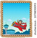 parchment with retro airplane... | Shutterstock .eps vector #1078850093