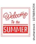 typography slogan welcome to...   Shutterstock .eps vector #1078854254