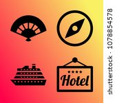 vector icon set about travel... | Shutterstock .eps vector #1078854578