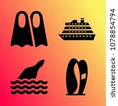 vector icon set about travel... | Shutterstock .eps vector #1078854794
