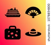 vector icon set about travel... | Shutterstock .eps vector #1078854800