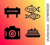 vector icon set about travel... | Shutterstock .eps vector #1078858334
