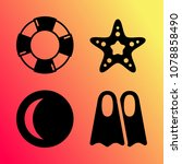 vector icon set about travel... | Shutterstock .eps vector #1078858490