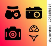 vector icon set about travel... | Shutterstock .eps vector #1078858514