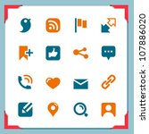 social icons | Shutterstock .eps vector #107886020