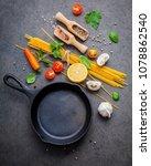 italian food and menu concept.... | Shutterstock . vector #1078862540