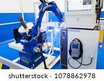 automatic welding robot in a... | Shutterstock . vector #1078862978