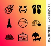 vector icon set about travel... | Shutterstock .eps vector #1078869764