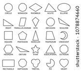 set of basic geometric shapes . ...   Shutterstock .eps vector #1078874660