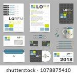 corporate identity template... | Shutterstock .eps vector #1078875410
