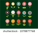 a set of different stylized... | Shutterstock . vector #1078877768