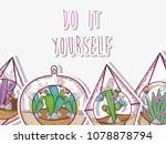 do it yourself gardening concept | Shutterstock .eps vector #1078878794