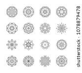 a set of 16 elements of a... | Shutterstock .eps vector #1078879478