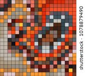 abstract mosaic pattern formed... | Shutterstock .eps vector #1078879490