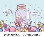 do it yourself crafts concept | Shutterstock .eps vector #1078879850