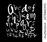 vector fonts   handwritten... | Shutterstock .eps vector #1078883393