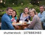 a summer evening of friends in...   Shutterstock . vector #1078883483