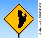kadan kyun map on road sign.... | Shutterstock .eps vector #1078888430