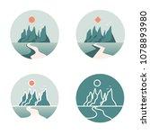 mountain logos icon  set on... | Shutterstock . vector #1078893980