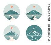 mountain logos icon style  set... | Shutterstock . vector #1078893989