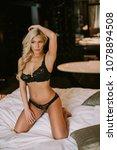 attractive woman in sexy... | Shutterstock . vector #1078894508
