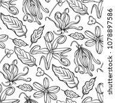 graphic ylang ylang seamless...   Shutterstock .eps vector #1078897586