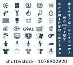 soccer  football icons set. | Shutterstock .eps vector #1078902920