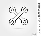 crossed wrenches vector line... | Shutterstock .eps vector #1078903409