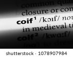 Small photo of coif word in a dictionary. coif concept