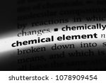Small photo of chemical element word in a dictionary. chemical element concept